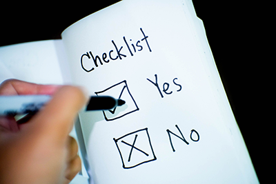 yes no checklist