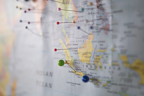 Map with location pins - What science says about expatriate success